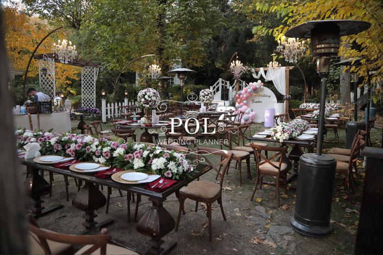 باغ کوچک برای عروسی